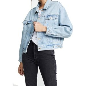 Light Blue Oversized Vintage Levis Jean Jacket